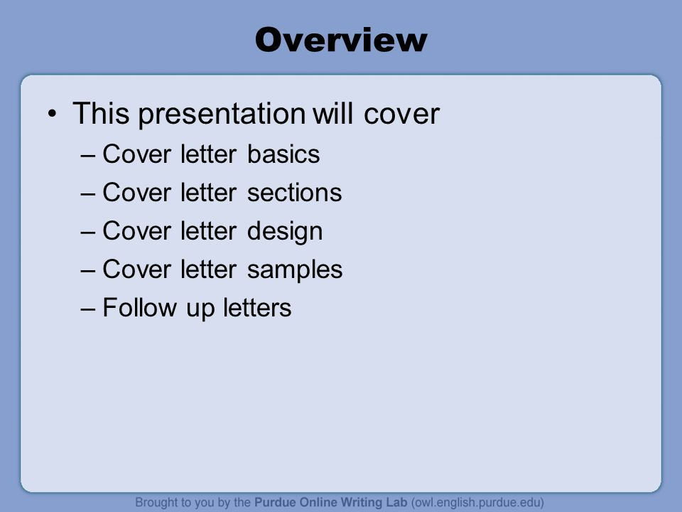 Cover Letter Basics | Workone Job Letters Workshop Overview This Presentation Will Cover