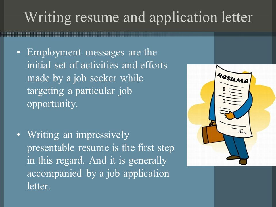 Unit 8 Business Communication Writing Resume And Application