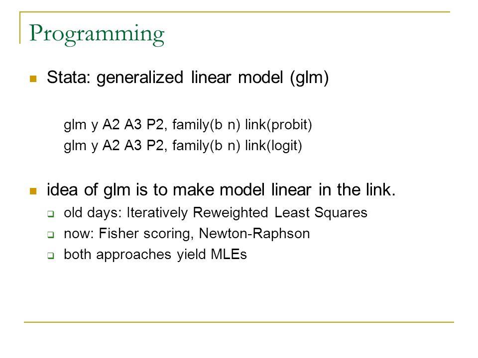 Categorical Data Analysis Week 2  Binary Response Models