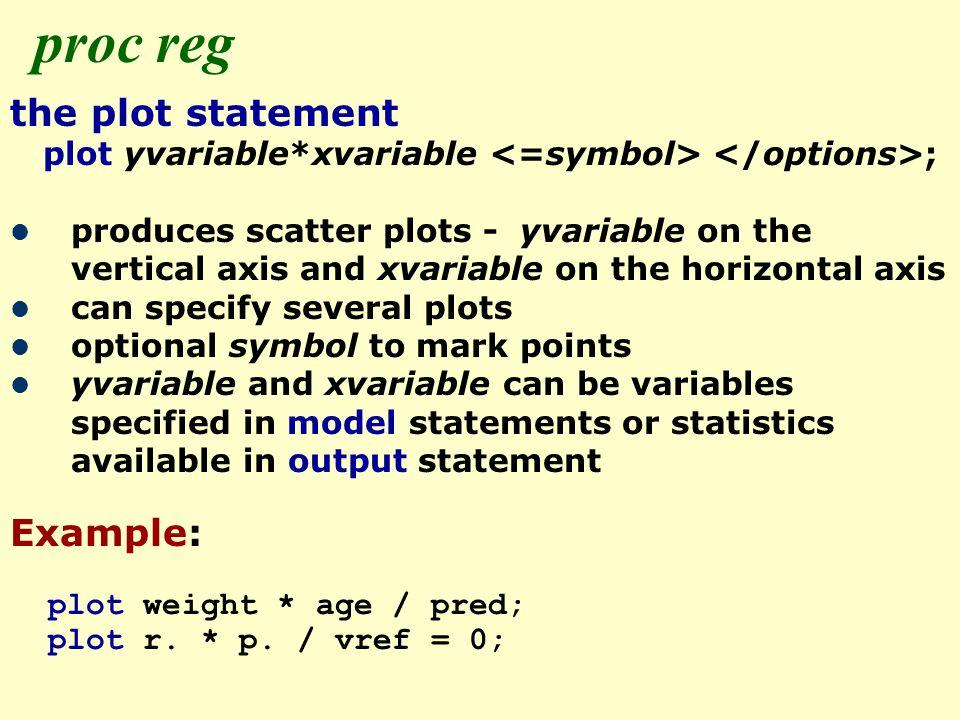 SAS Lecture 5 – Some regression procedures Aidan McDermott