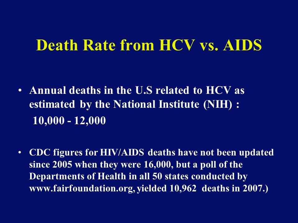 Death Rate from HCV vs.