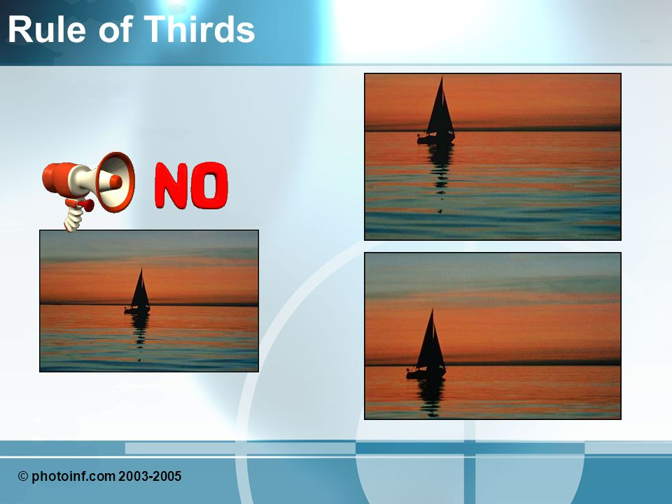 Rule of Thirds © photoinf.com