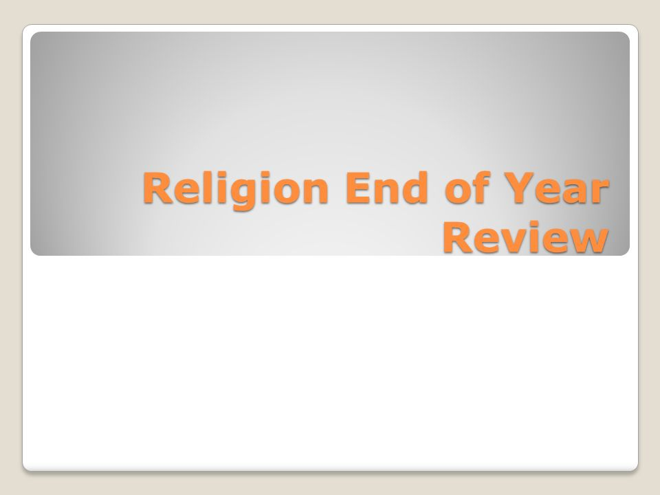 Religion End of Year Review. Religion Exam Review Sheet Vocabulary ...