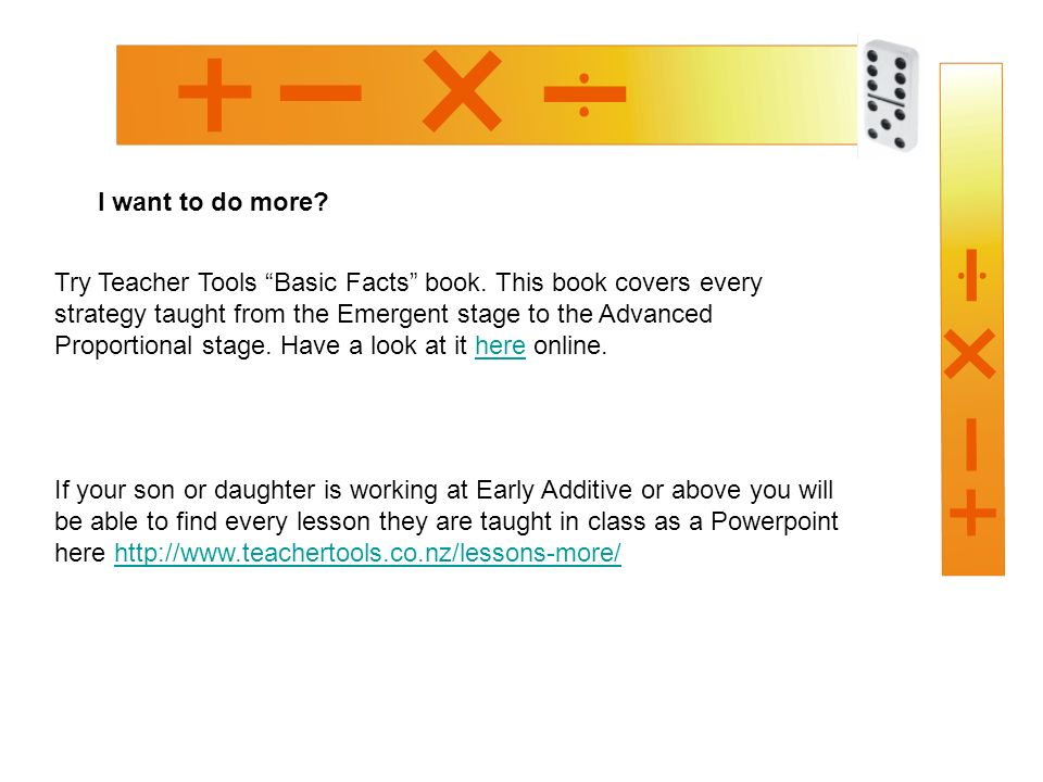 I want to do more. Try Teacher Tools Basic Facts book.