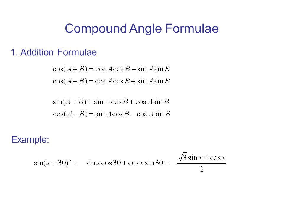 Lesson 6. 7 compound angle formulas youtube.