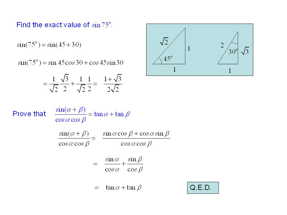 How to apply compound angle formula and calculate exact value of.