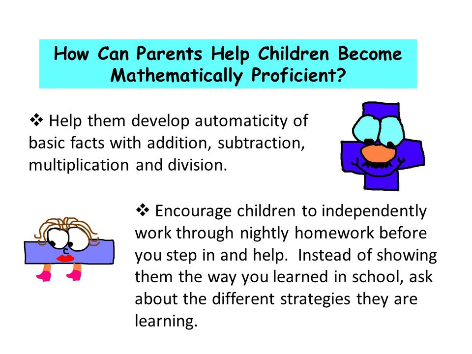How Can Parents Help Children Become Mathematically Proficient.