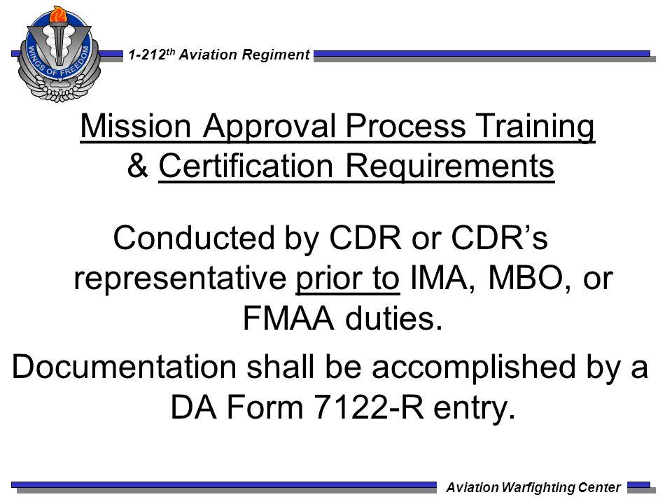 1 212 Th Aviation Regiment Aviation Warfighting Center 09 Sep 09