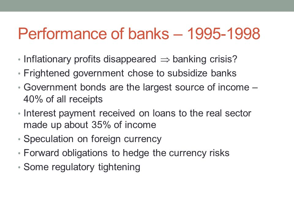 Performance of banks – Inflationary profits disappeared  banking crisis.