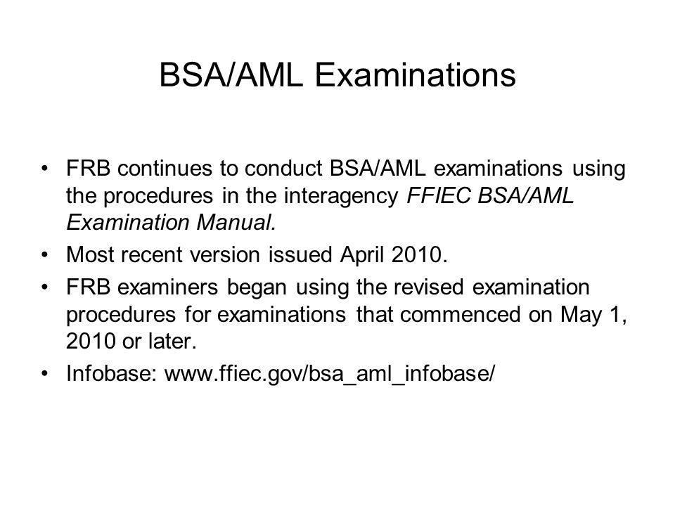 revisions to the ffiec bsa aml examination manual and federal rh slideplayer com ffiec bsa/aml examination manual ffiec bsa/aml examination manual 2018 pdf