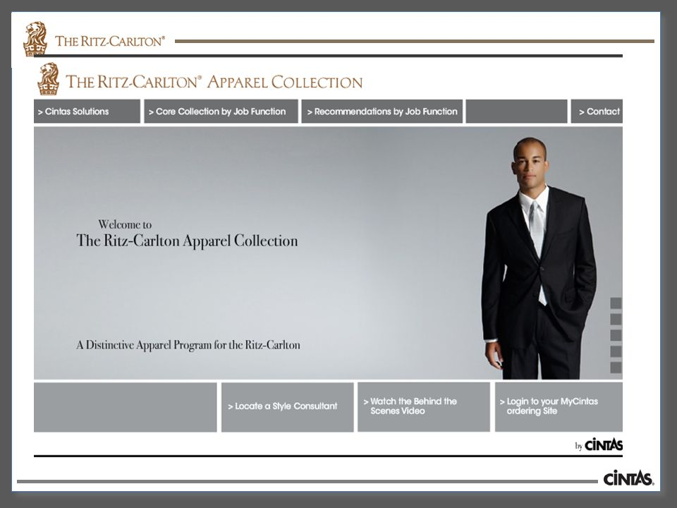Welcome to The Ritz-Carlton Web Instructions How to access your
