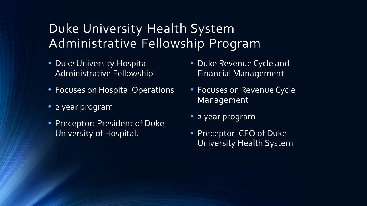 Post Graduate Administrative Fellowship GUIDE TO APPROACHING THE