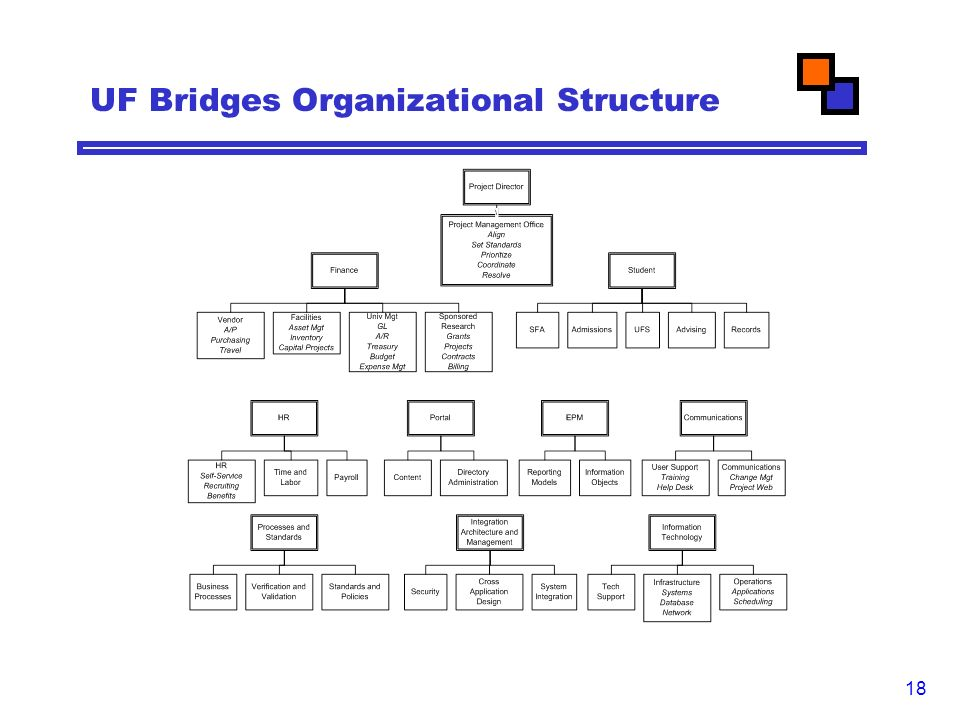 18 UF Bridges Organizational Structure