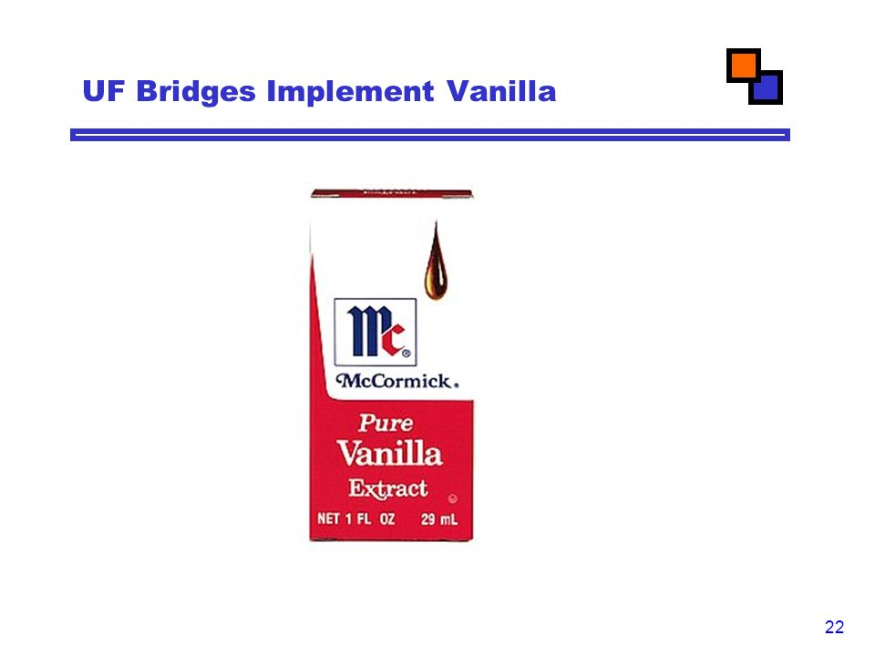 22 UF Bridges Implement Vanilla