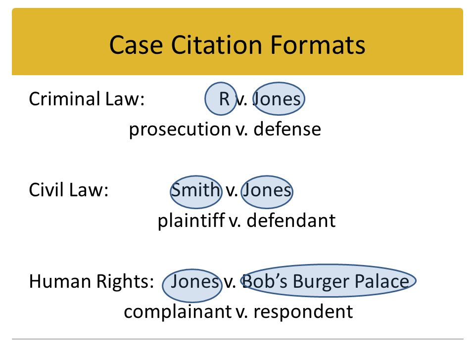Civil law cases examples