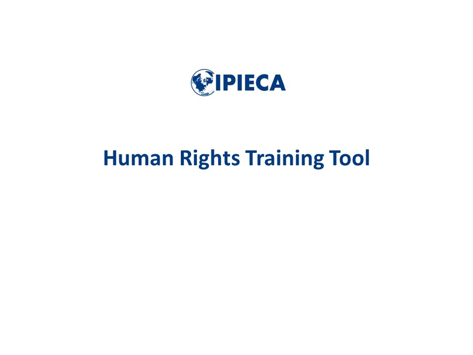Human Rights Training Tool