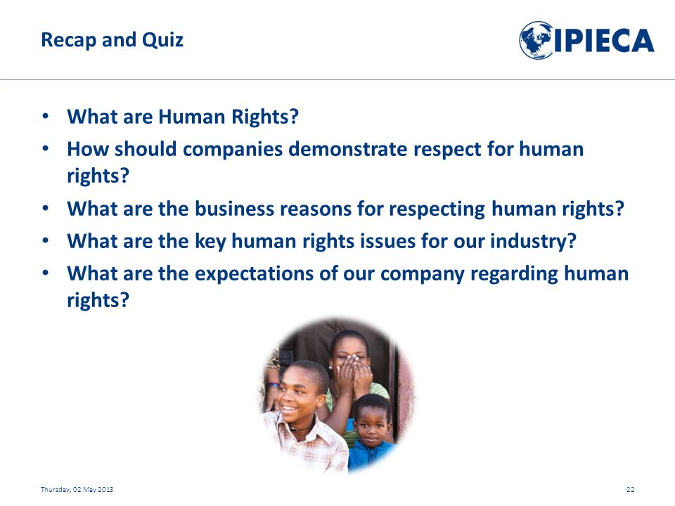What are Human Rights. How should companies demonstrate respect for human rights.