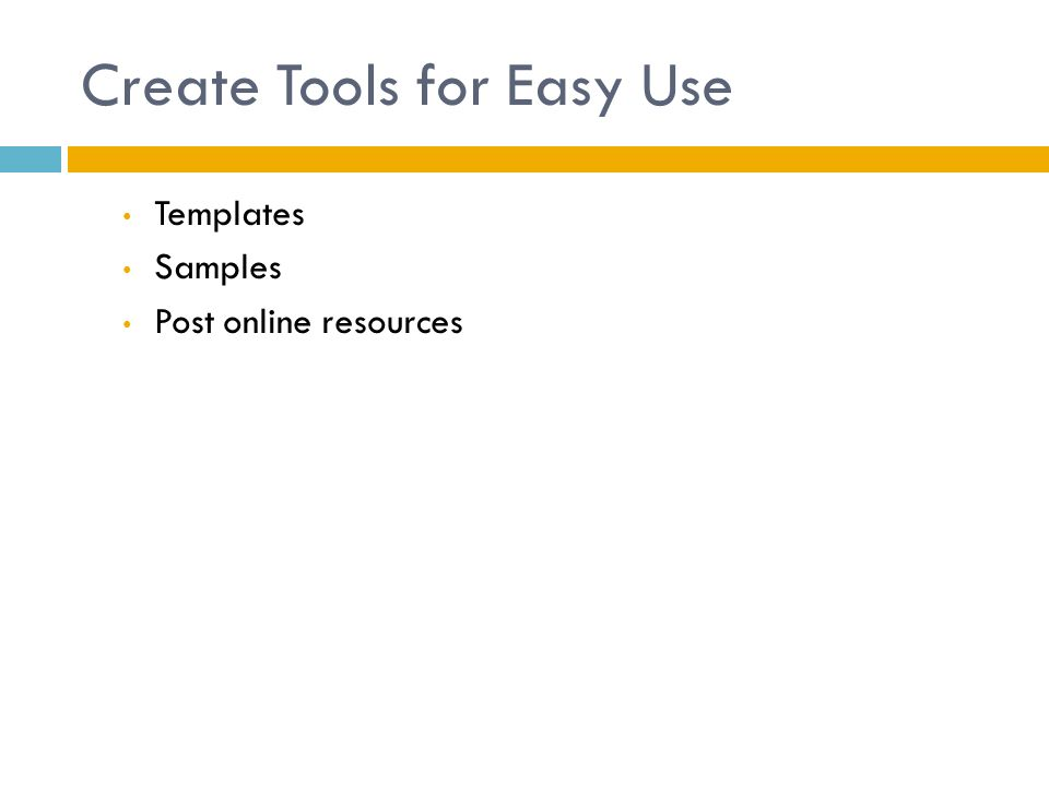 Create Tools for Easy Use Templates Samples Post online resources