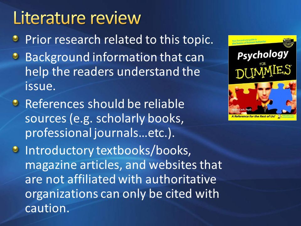 literature review paper The department of biology  pointers about writing each section of a research paper (with examples)  literature review papers: reviewing the literature and.