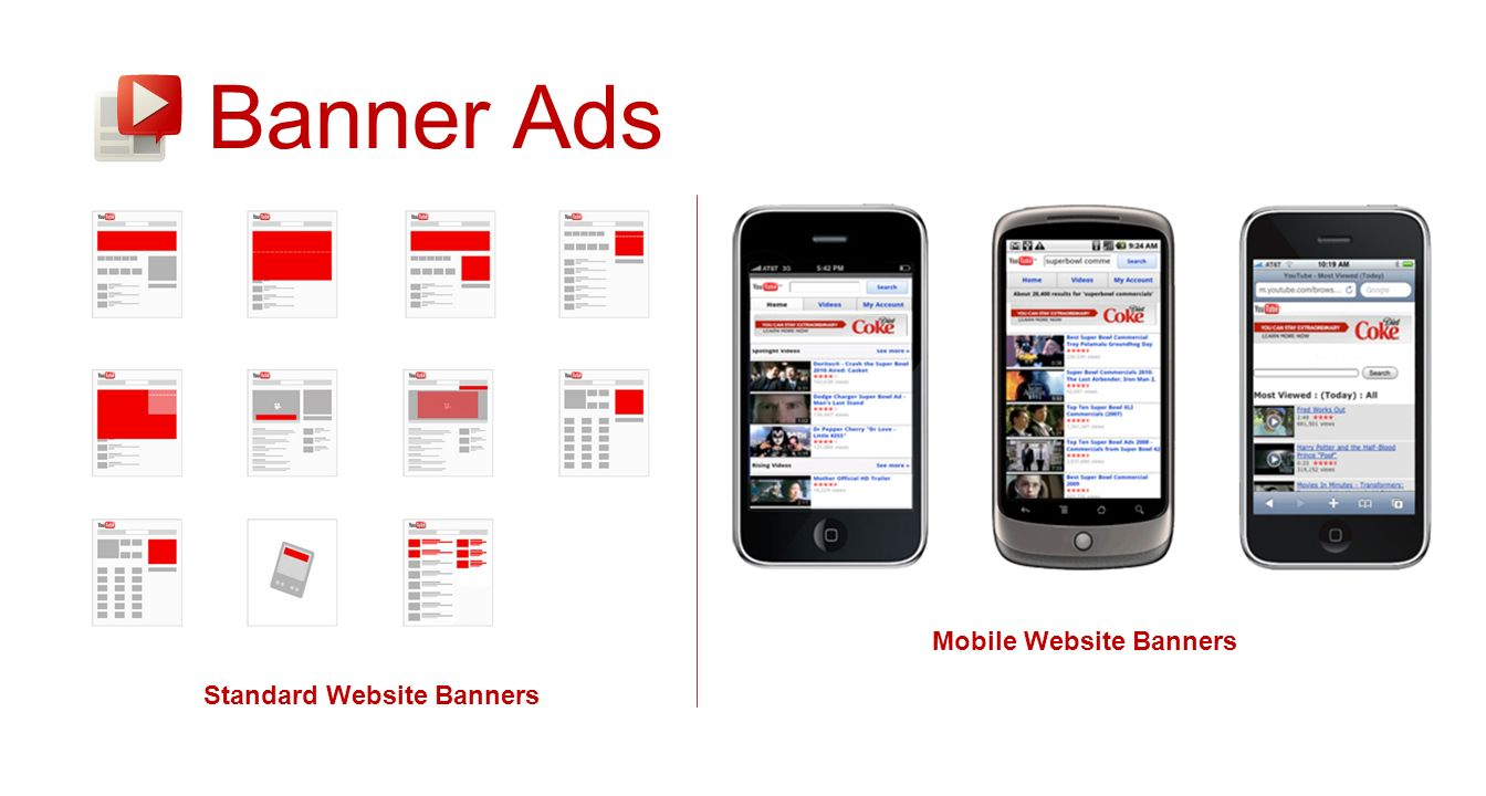 Banner Ads Standard Website Banners Mobile Website Banners