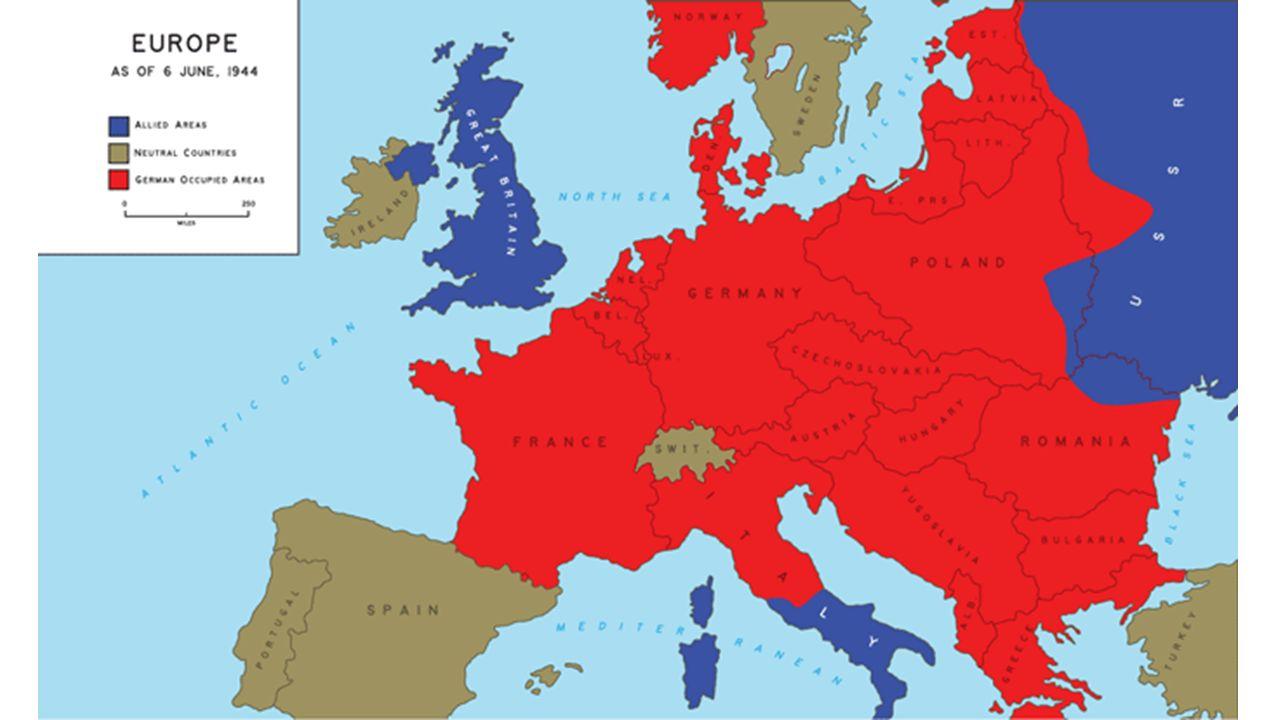Allied Powers vs Axis Powers - World War II