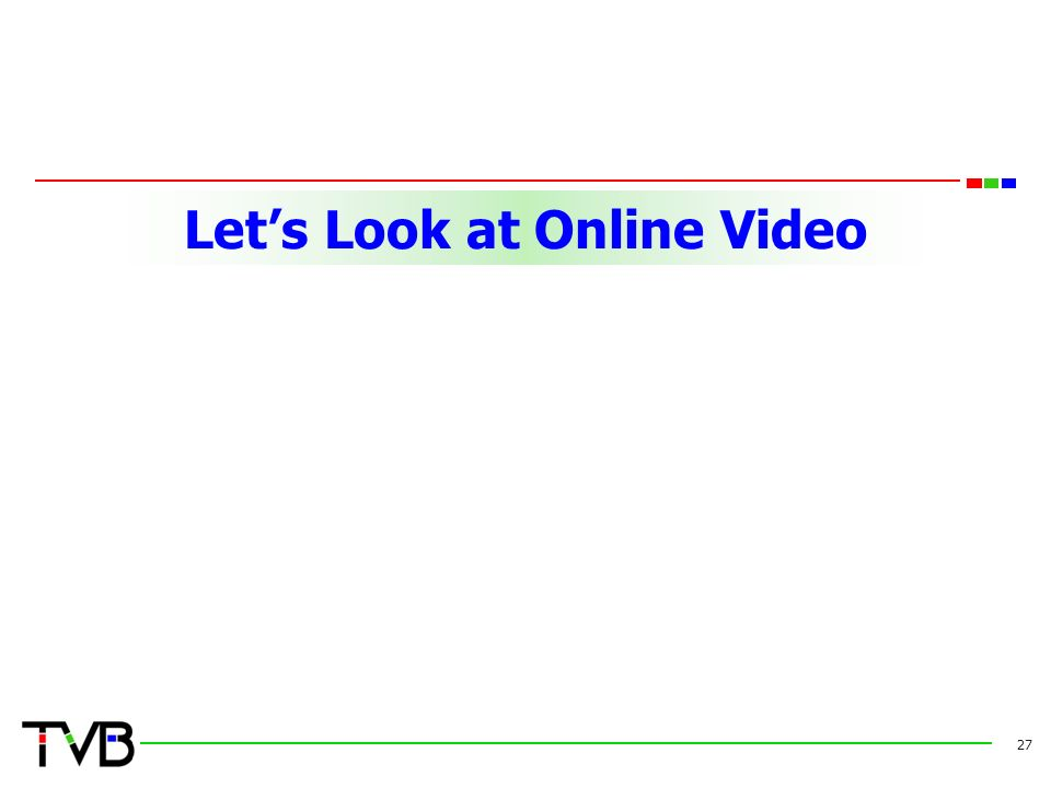 Let's Look at Online Video 27