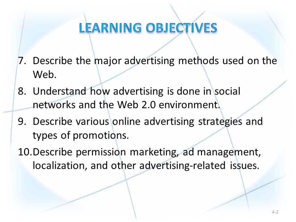 7.Describe the major advertising methods used on the Web.
