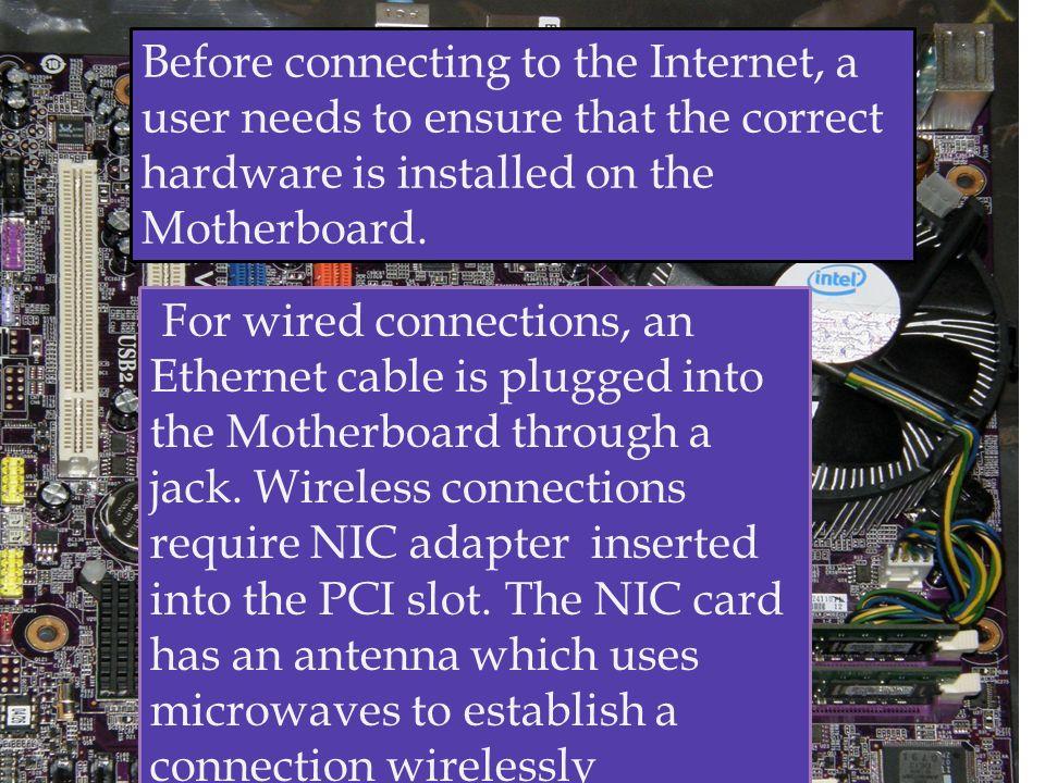Establishing Internet Connection & Installing Mozilla