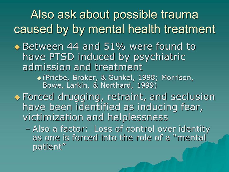 trauma and psychosis morrison anthony p larkin warren