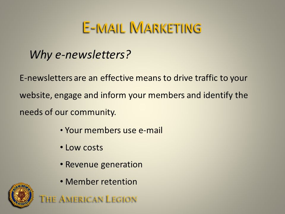 Why e-newsletters.