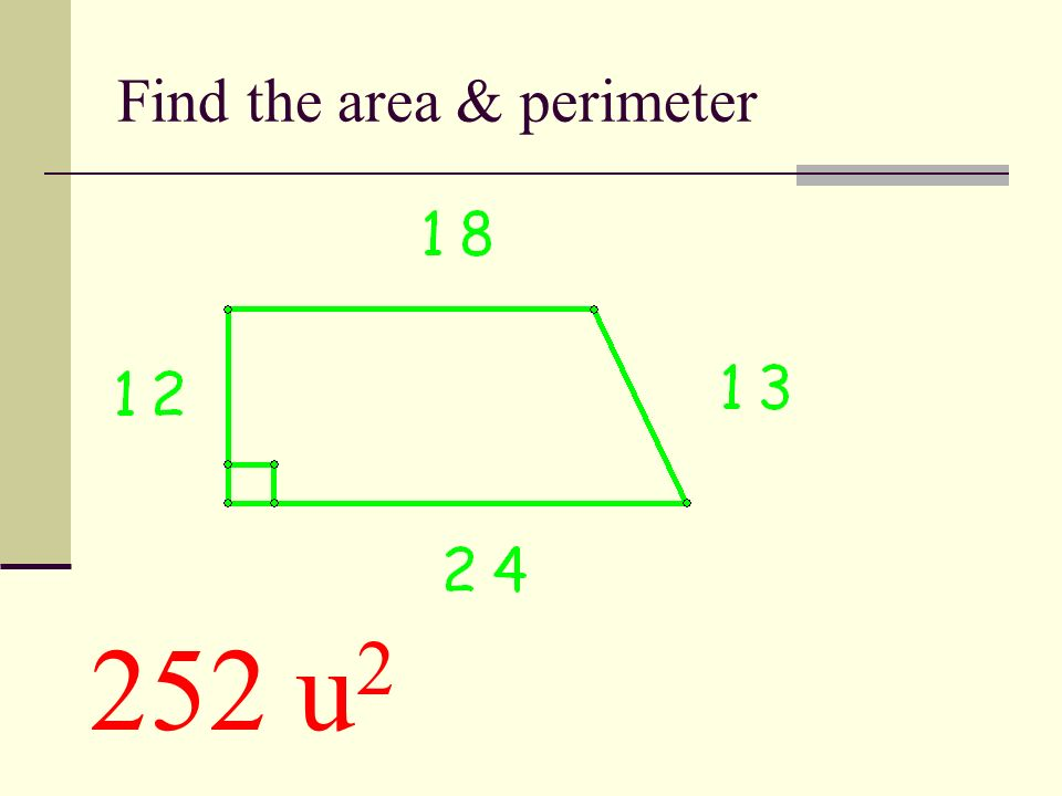 Find the area of this trapezoid 144 u²