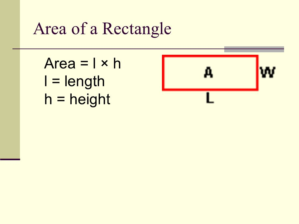 Area vs. Perimeter Area is the amount of surface it covers.
