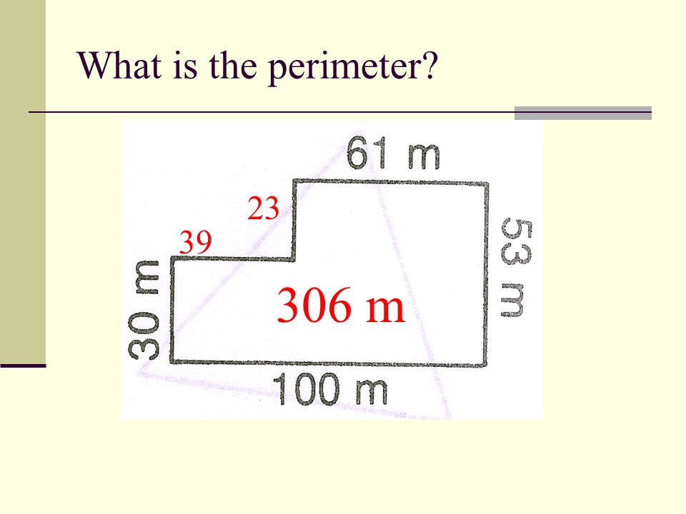 What is the perimeter 44