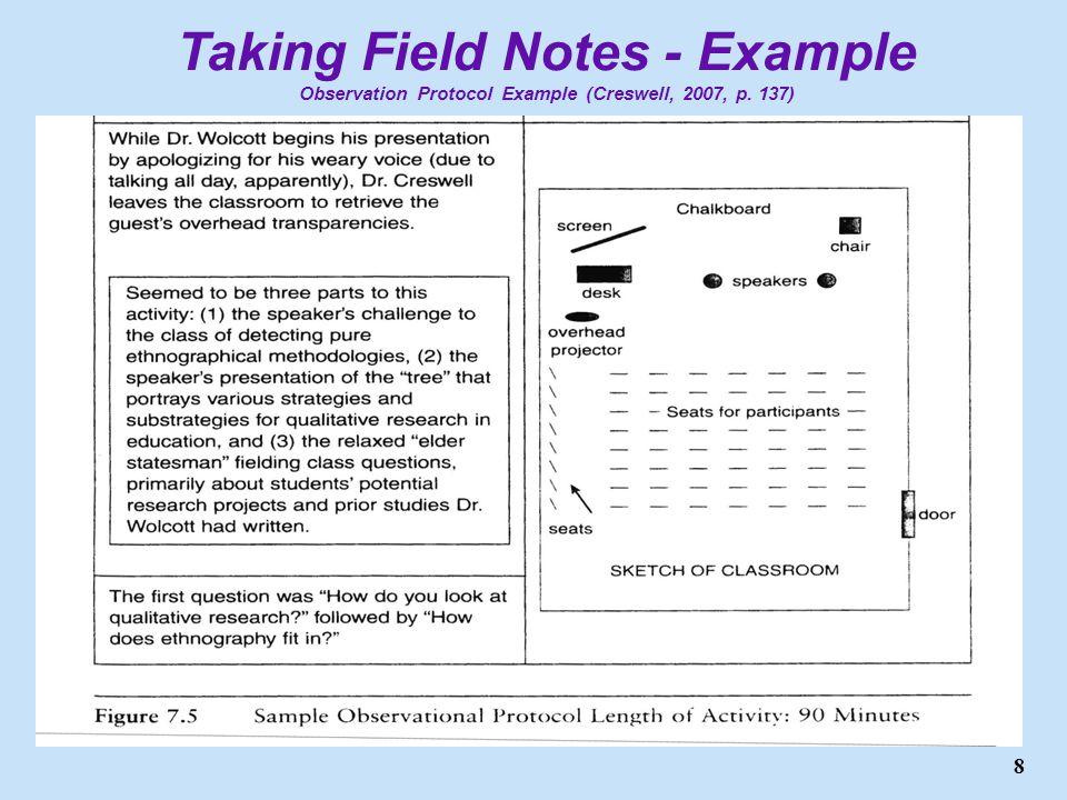 ScWk 242 – Session 5 Slides OBSERVATION AND QUALITATIVE FIELDWORK ...