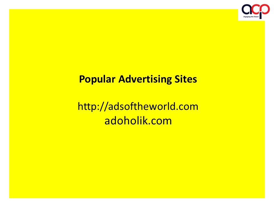 Popular Advertising Sites   adoholik.com
