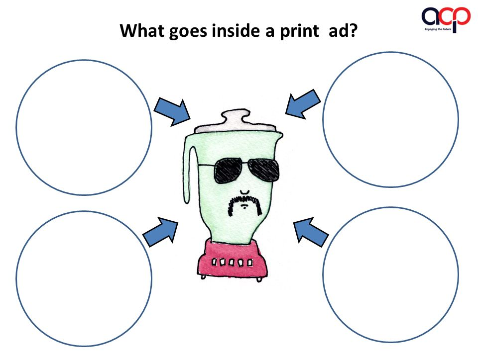 What goes inside a print ad