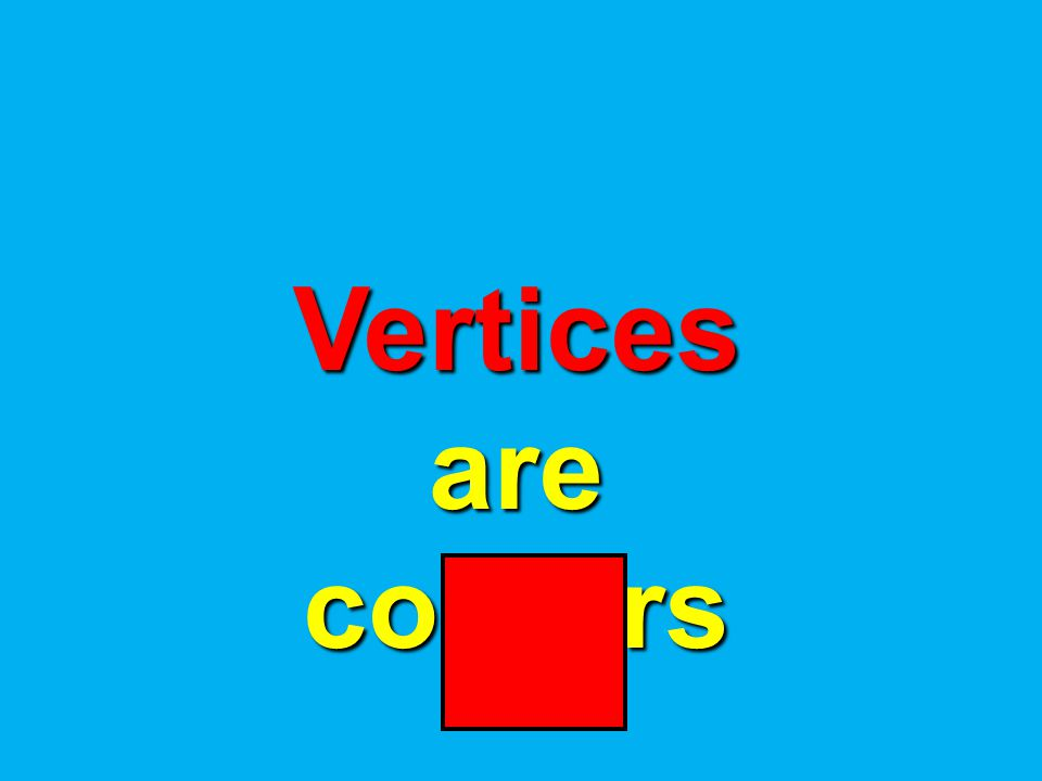 Vertices are corners