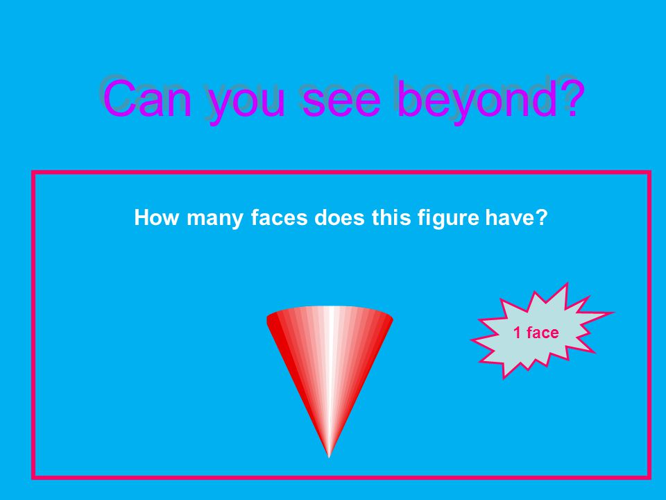 Can you see beyond How many faces does this figure have 1 face