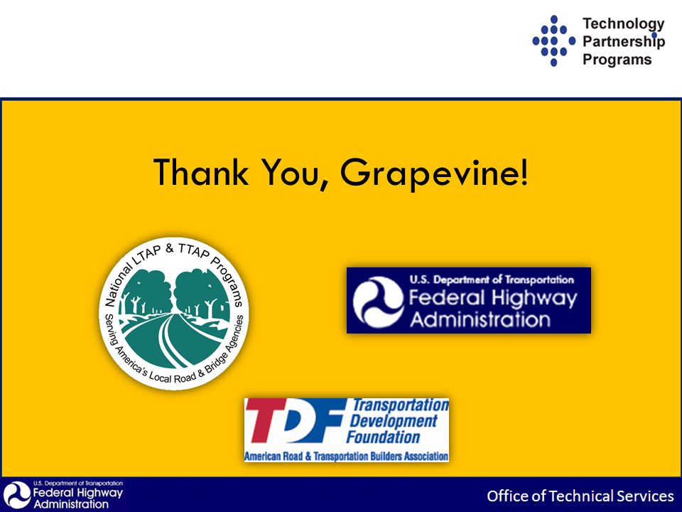 Thank You, Grapevine!