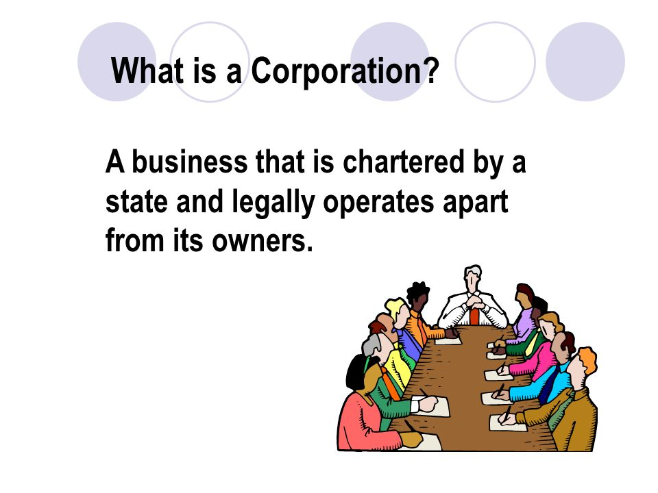 What is a Corporation.