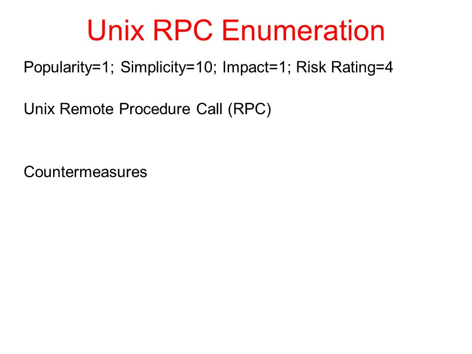 Enumerating slides (c) 2012 by Richard Newman based on