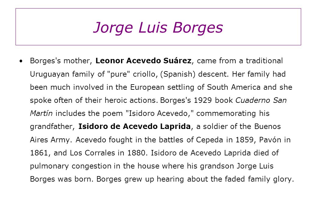 the south jorge luis borges