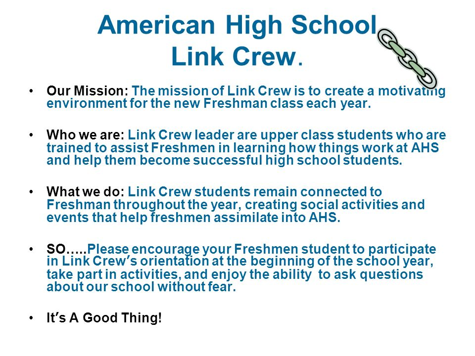 why i want to be a link crew leader