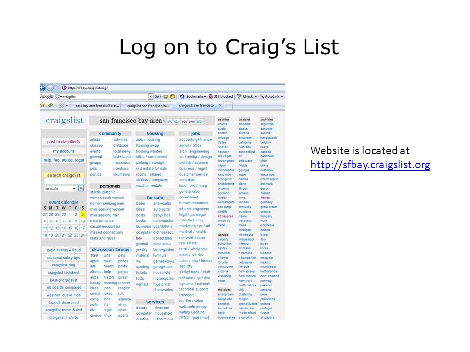 Buying and Selling Items on eBay and Craig's List Computer and