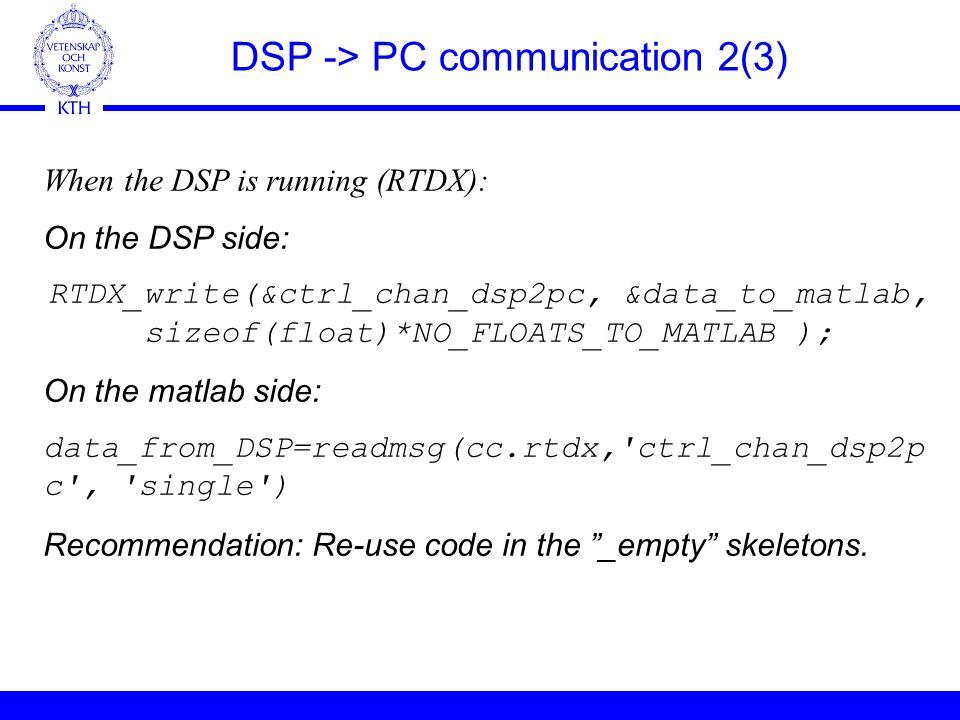 S3 kth se DSP Lecture 30/ Per Zetterberg  Agenda General  Starting