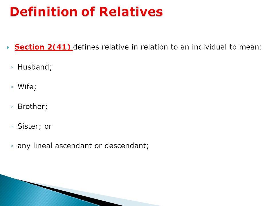 lineal ascendant definition