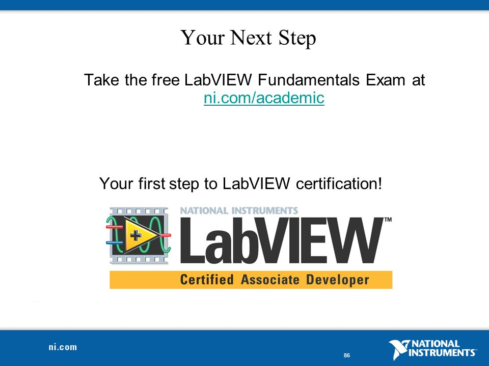 3-Hour Hands-On Introduction to LabVIEW  2 Course Goals