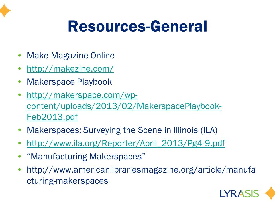 Libraries as Makerspaces Russell Palmer Supervisor