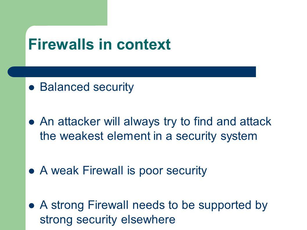 IC3: Network Security Firewalls Antony Stone Rockstone Ltd