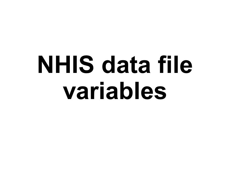 NHIS data file variables